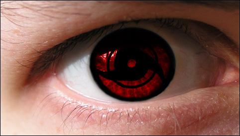 Real Sharingan Eye Contacts Mangekyou sharingan on an eye