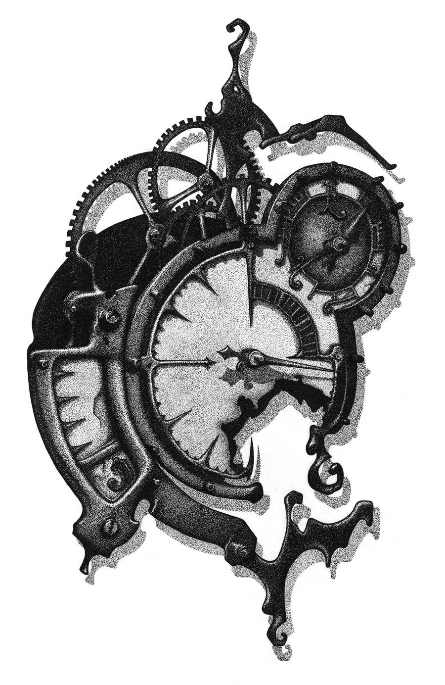 Clock Watch Drawing Clock Tattoo Drawings