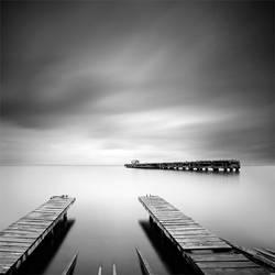 Two Piers by SerdarAKIN