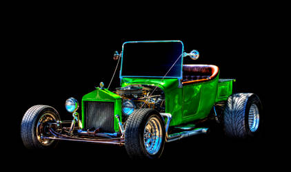 Green Hot Rod by MidagePhotographer
