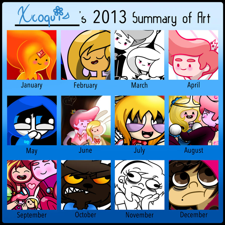 Xcoqui 2013 Art Summary by Xcoqui
