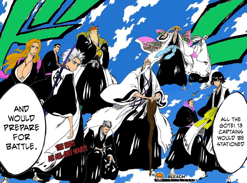 Bleach Captain Names Bleach Captains by guymn666