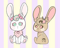 Sundae Bunnies by AndriaMiles