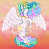 Princess Celestia by AndriaMiles