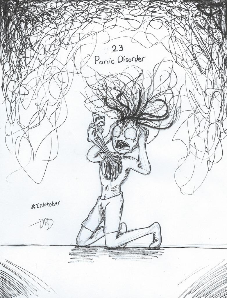 Inktober Day 23: Panic Disorder by CodaRosy on DeviantArt