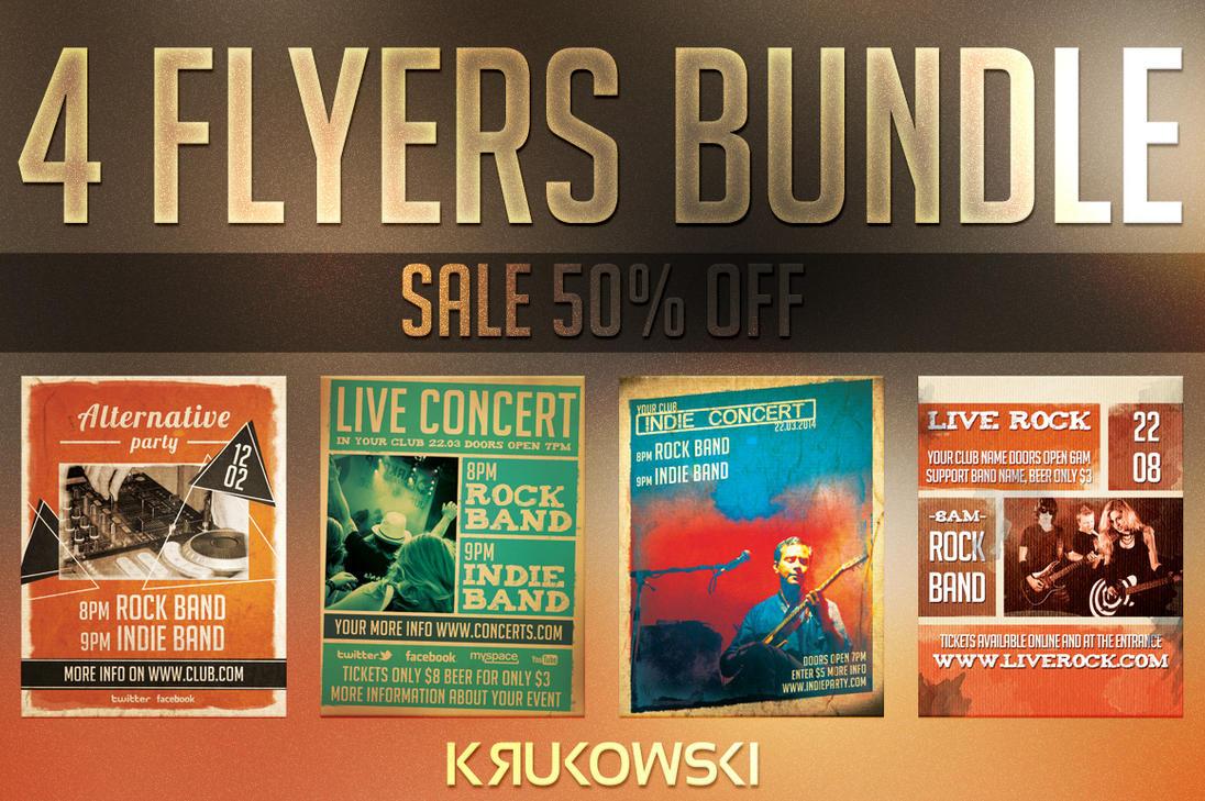 alternative concert flyers bundle by mkrukowski on deviantart. Black Bedroom Furniture Sets. Home Design Ideas