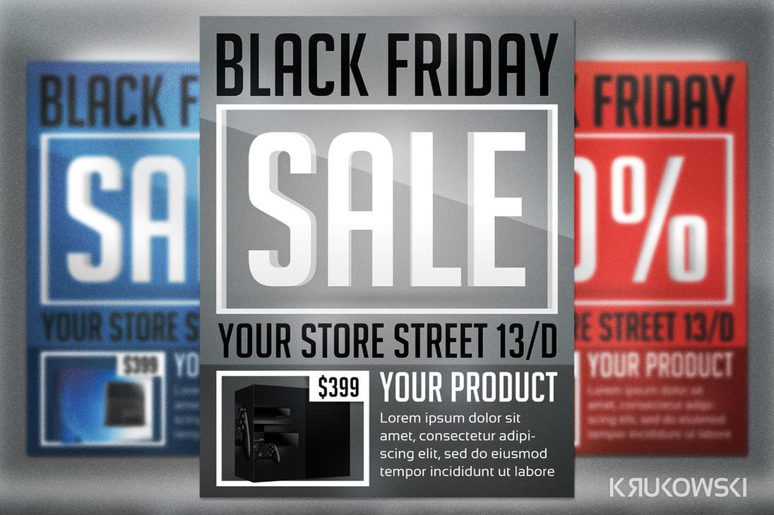 Black Friday Sale Flyer by mkrukowski
