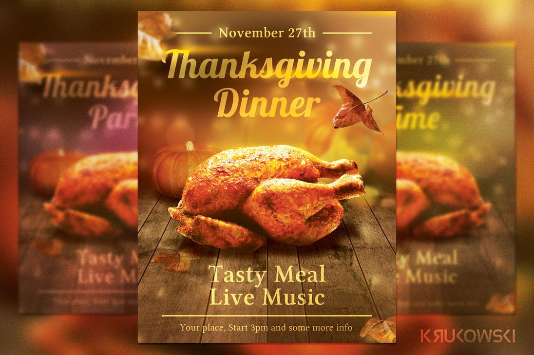 Thanksgiving Flyer /Poster Template by mkrukowski