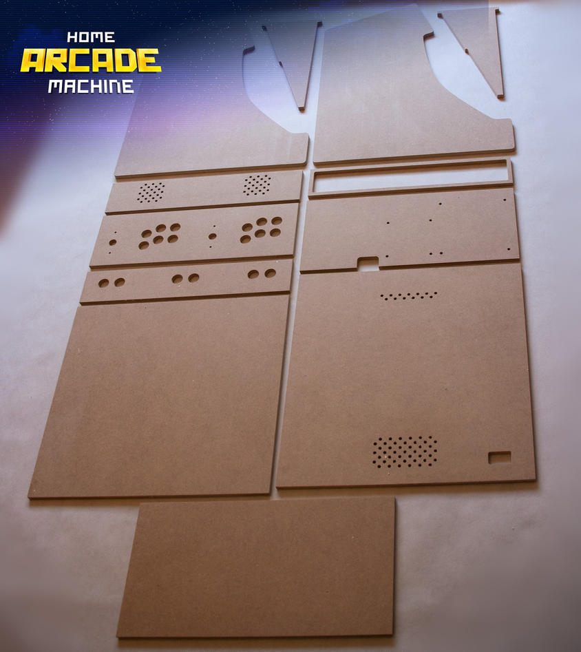 Bartop Arcade Cabinet CNC Cut by mkrukowski