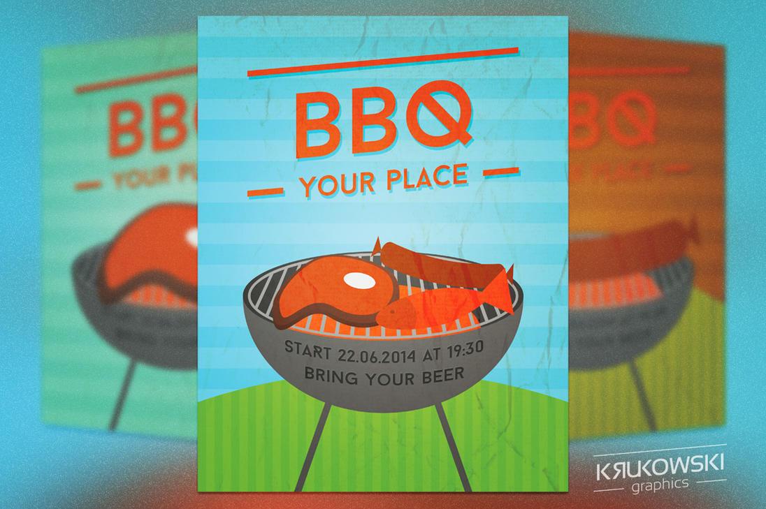 Free Retro BBQ Flyer by mkrukowski