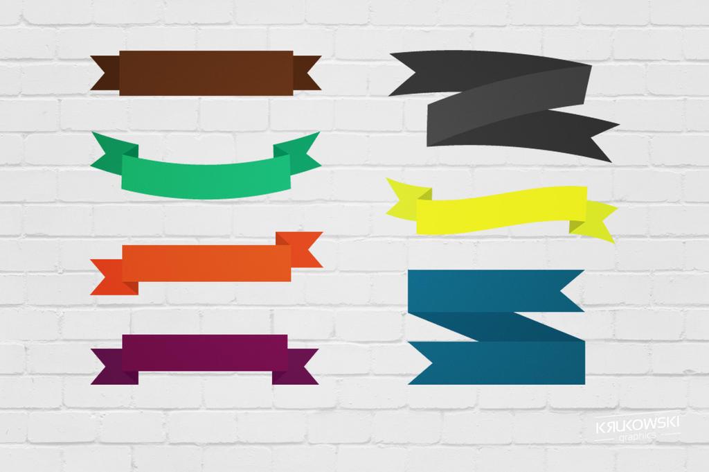 Free Vector Ribbons by mkrukowski