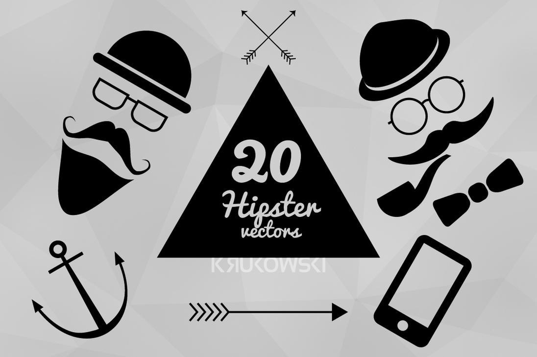 Hipster Vectors Set by mkrukowski