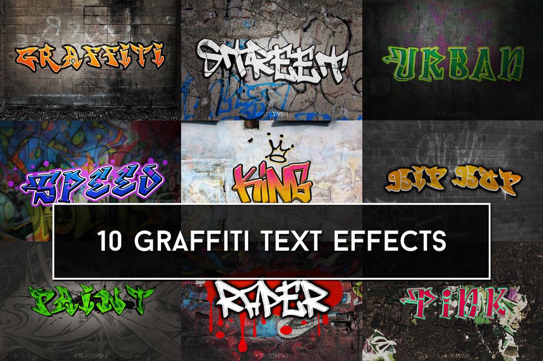 Graffiti Text Effects by mkrukowski