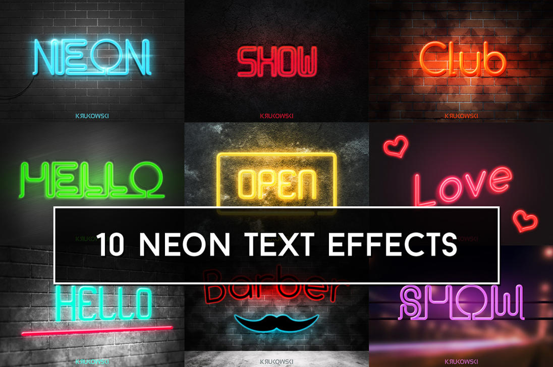 Neon Text Effects by mkrukowski