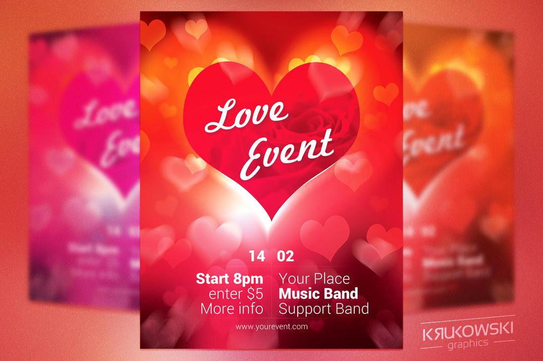 Valentines Day Free Flyer by mkrukowski