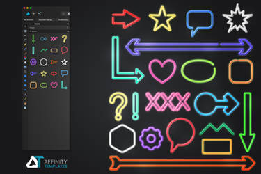 Neon Kit Resources for Affinity Designer by mkrukowski