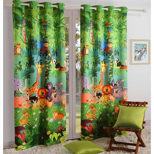 Great Swayam Jungle Kids Curtains 135  By Homedrape ...