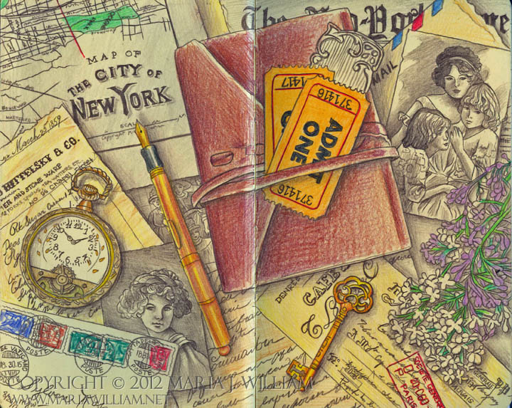 Sketchbook 20: NY Memories by MJWilliam