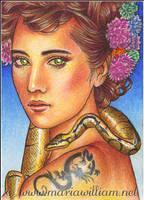 Animal Yokai - Hebi (Snake) ACEO by MJWilliam