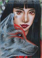 Animal Yokai: Okami (Wolf) by MJWilliam