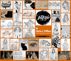 Inktober 2016 - all drawings by MJWilliam