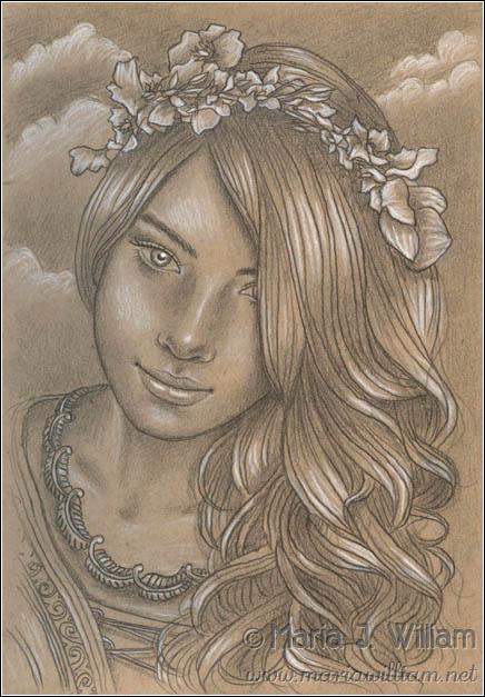 Angel Smile - sketch by MJWilliam