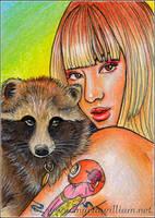 Animal Yokai: Tanuki (Racoon Dog) by MJWilliam