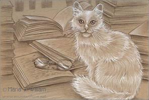 Ex Libris - Sketch by MJWilliam