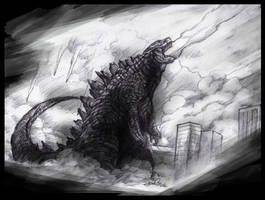 Go Godzilla Go by JenniferTehArt