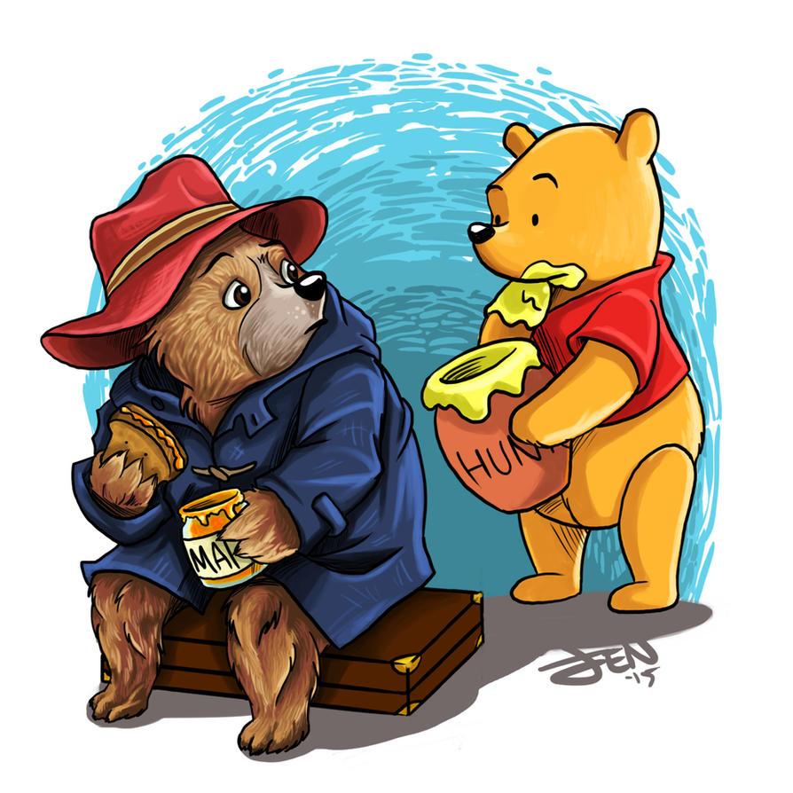 Paddington and Pooh by Lillidan86