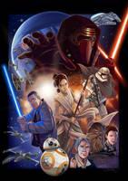 The Force Awakens by JenniferTehArt