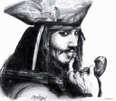 Johnny Depp - Jack Sparrow by Lillidan86