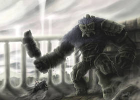 Battle with Argus by JenniferTehArt