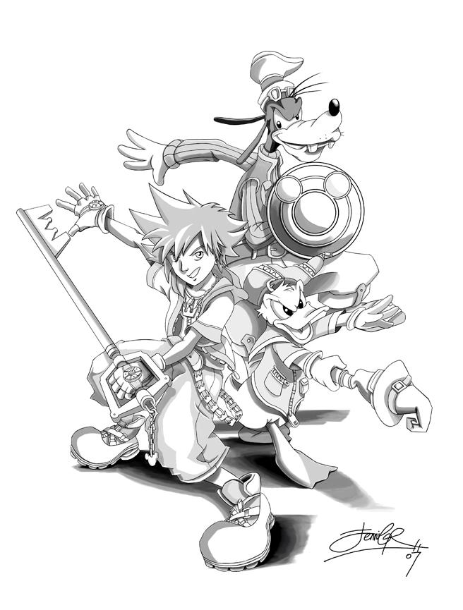 Kingdom Hearts Fanart Collab by Lillidan86