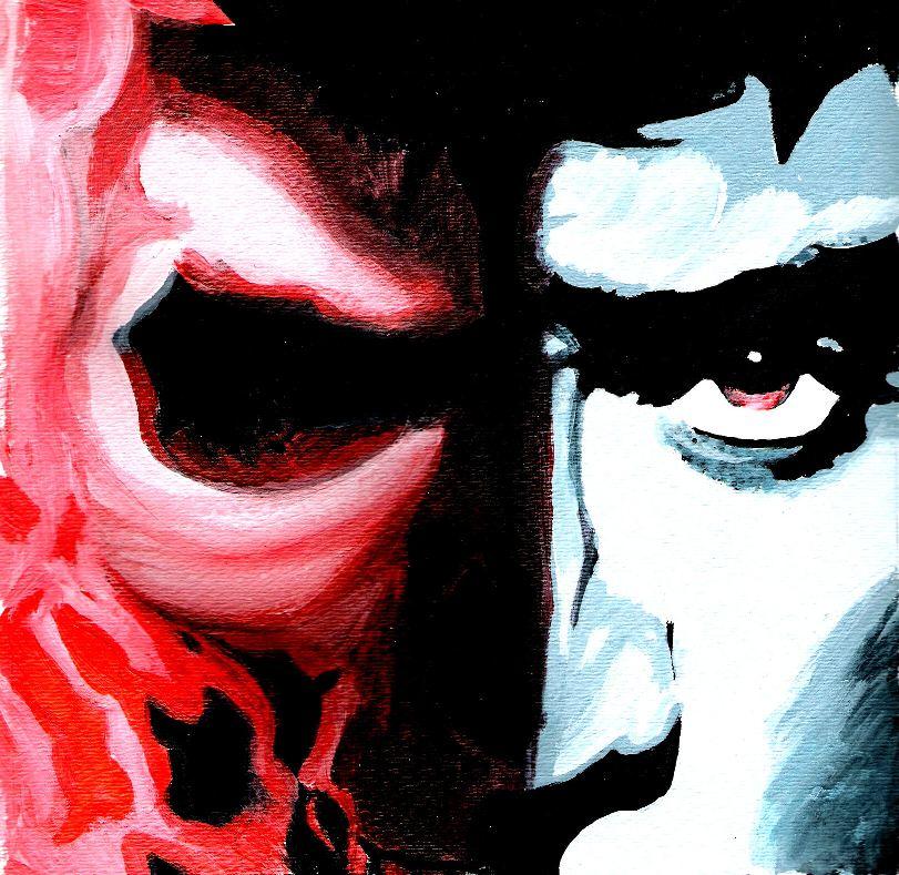 Ghost Rider Split Face...