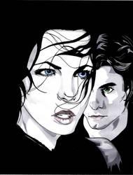 Selene and Michael by myspiritswell