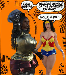 Recreation of Wonder Woman 204 panel of Nubia