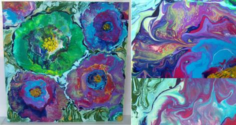 Wild abstract flowers by PrincessNarutofan