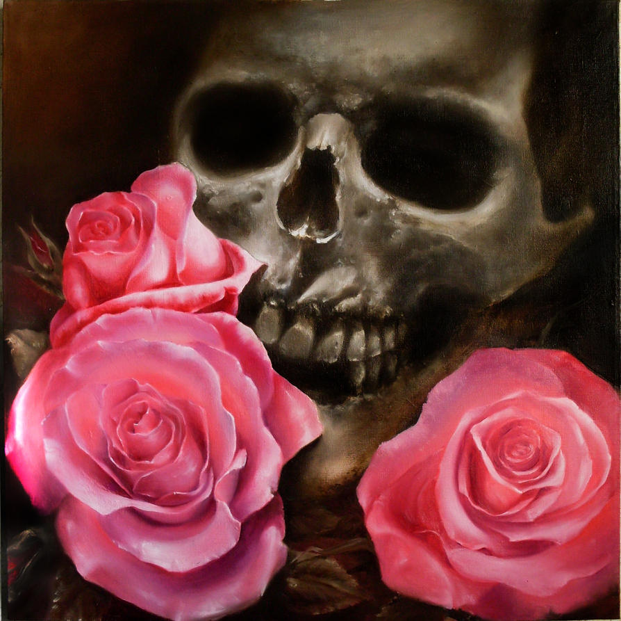 skull and roses wallpapers - photo #17