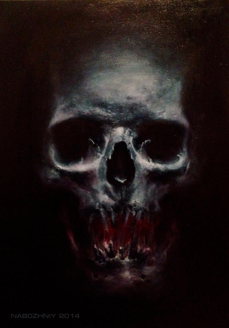 skull by vangoghtattoo