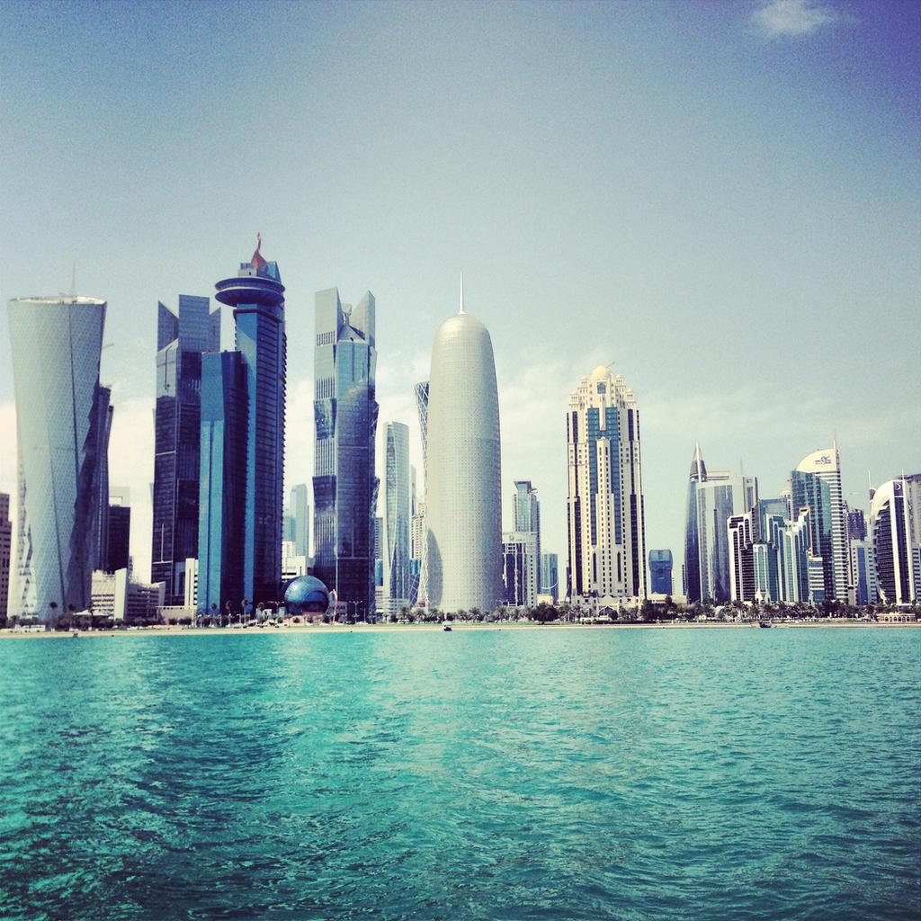 Qatar skyline by IrsaDej on DeviantArt