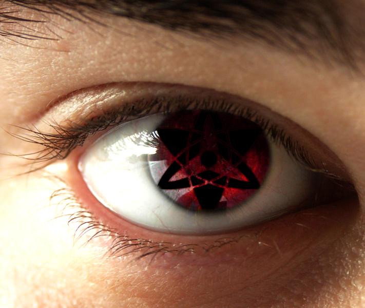 Real Sharingan Eye Contacts New sharingan eye effect by