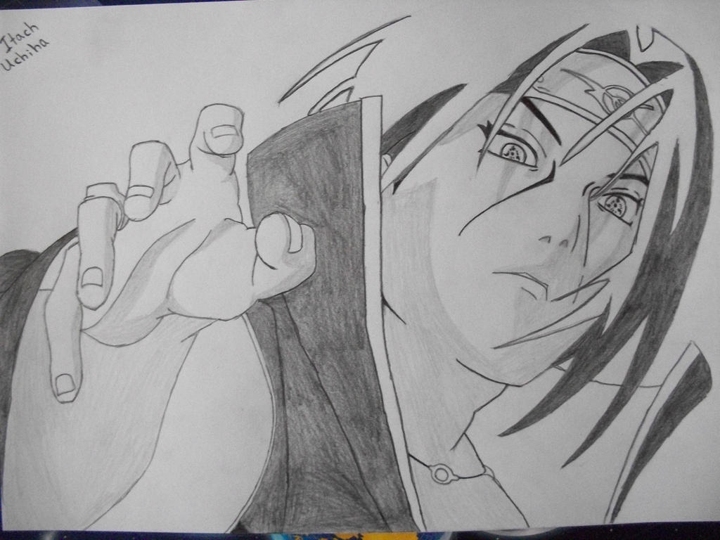 uchiha itachi drawing by honchkrow14