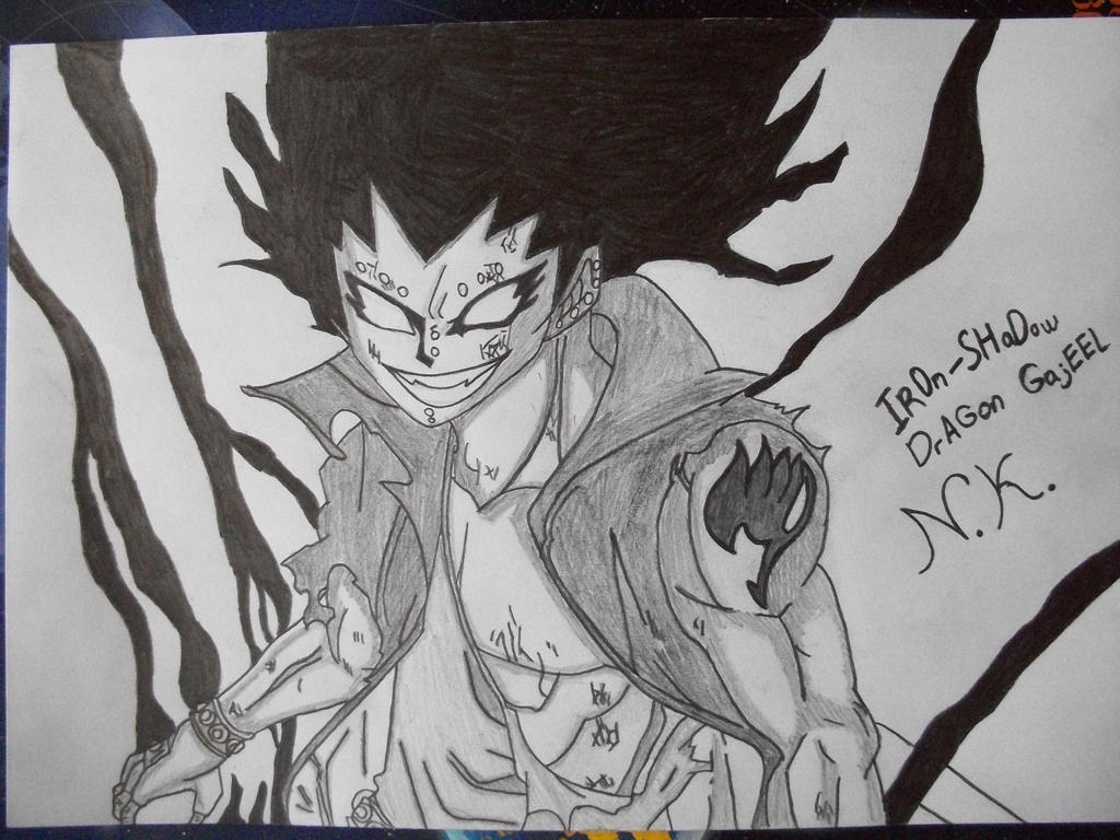 Iron-Shadow Dragon Gajeel by honchkrow14Gajeel Shadow Iron Dragon