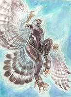 Biotic Goshawk Goddess by caramitten
