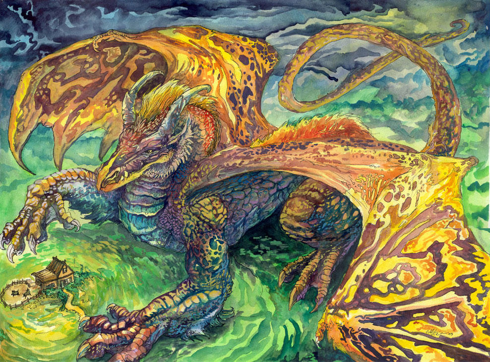 Chuck's Dragon by caramitten
