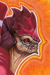 WREX -- Portrait of a Battlemaster by caramitten