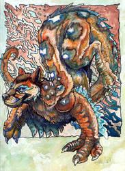 Blue-Ringed DragonYenaCat by caramitten