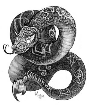 Sepia Snake