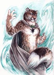 Bink - Celestial Snow Leopard by caramitten